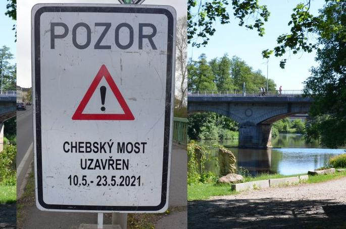 Chebský most v Karlových Varech se v pondělí na dva týdny uzavře